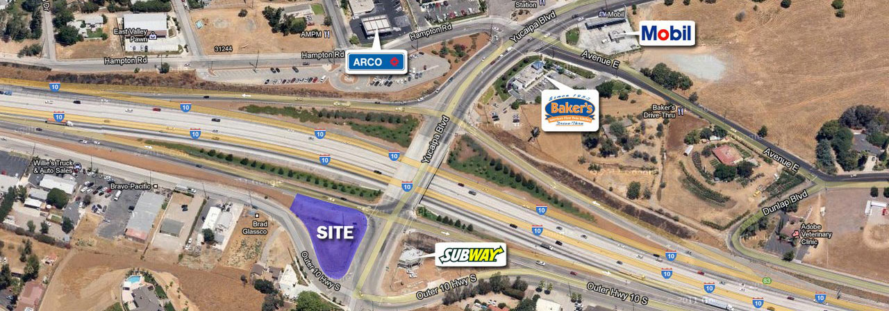 I-10 Freeway & Yucaipa Blvd